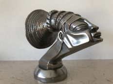 Radiator cap car mascot in silvery bronze - first half of the 20th century