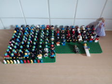 Assorted - 122 Lego mini figures + 15 other figures