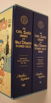Donald Duck - Carl Barks Library set 6 + 8 - 6xhc in slipcase - 1st edition of reissue (1983/1990)
