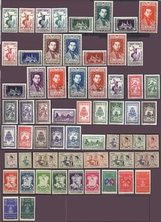 Kingdom of Cambodia 1951/1967 - Yvert TP Selection between No. 1 and 202, PA No. 1 to 17 and BF No. 1 to 3 (notebook), 4 and 5, 16, 19 and 22.