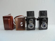 A lot of 2 Lubitel 2 cameras