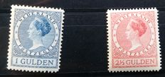 The Netherlands 1926/1927 - Wilhelmina ´Veth´ - NVPH 163 + 164