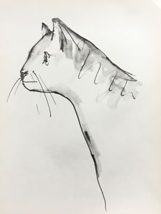 Pablo Picasso (after) - Chat, suite Bufoon, 1957