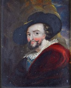 Unknown (18/19th Century ) - After Peter Paul Rubens. (1577-1640) - A self portrait of Rubens.