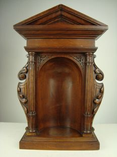 Hardwood niche for a sculpture - France - approx. 1920