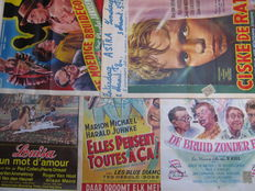 Posters; Lot with 5 Benelux Cinema display case posters - 1950s / 1970s