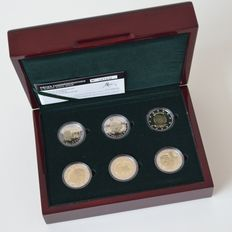 Luxemburg – 2 Euros 2004/2008 (6 different coins) in set
