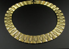 Signed Monet – Gold tone Collar Necklace