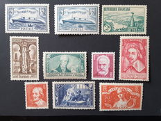 France 1935 - 1 complete year - Yvert no. 299 to 308