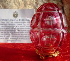 "Fabergé Crystal Color Collection ""The Four Seasons Egg"" - Crystal - numbered Faberge egg - signed"