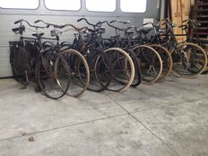 Lot of 12 bikes, 4 frames - Gazelle - Simplex - Gruno - Union etc.