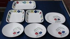Marianne Westman - 4 Pomona plates and 3-piece set of Picknick ovenware