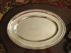 Silver plated serving tray, Christofle, 20th century
