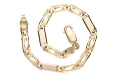 Curb link bracelet of 14 kt yellow gold