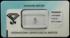 0.23 ct Natural Fancy Light Purplish Pink Diamond – NO RESERVE