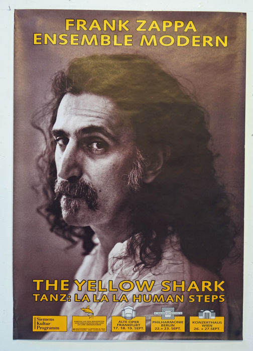 Two poster of Frank Zappa. Frank Zappa - Ensemble Modern. Frank Zappa - The Lost Episodes.