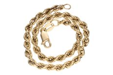 Yellow gold rope bracelet in 14 kt
