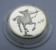 Russia - 2 Roubles 2002 Sagittarius Series Astrological Signs - silver