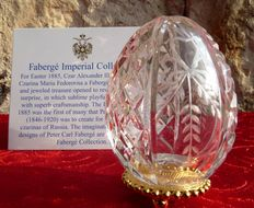 Fabergé Crystal - Imperial Egg Collection - numbered - signed - engraved crystal - with certificate of authenticity