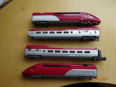 Mehano H0 - Thalys train set in grey red livery of the NS