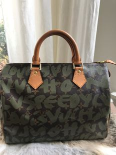 Louis Vuitton - Speedy 30 - Monogram graffiti army green - Limited edition