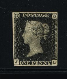 Great Britain Queen Victoria 1840 - 1 Penny Black
