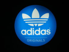 Original Adidas originals logo electric sign, wall light, 35 cm  - 20th century