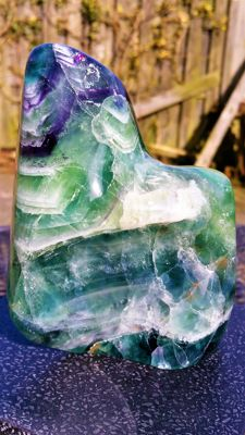 Large, fully sculpted and polished Blue John Fluorite - 138 x 105 x 65mm - 1,236kg