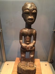 Magnificent ancient ritual figurine - BAULE - Ivory Coast