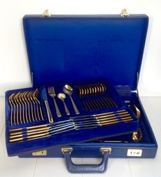 Olympia ''Seventies''- 12 persons cutlery case 68-piece set -18/10 stainless steel