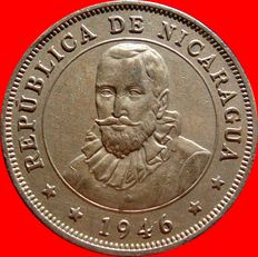Republic of Nicaragua – 50 cents from Cordoba – Royal – 1946.
