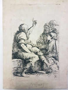 Salvator Rosa (1616-1673) - Three Beggars listening to an Philosopher - ca 1650