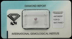 0.20 ct Natural Fancy Purplish Pink Diamond – NO RESERVE