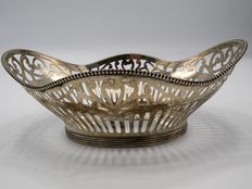 Silver open work basket, Netherlands