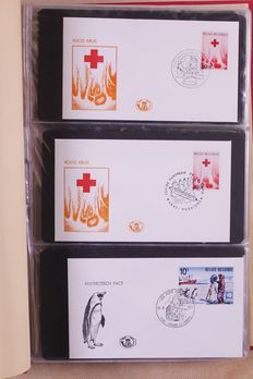 Belgium 1957/1973 – Batch of 500 First Day Covers in 5 Importa albums