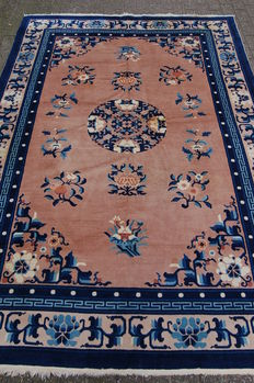 Hand-knotted Chinese Ning Hsia rug 275 x 185 cm