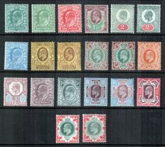 Great Britain King Edward VII 1902/1911 with various shades - set of 20 on stockcard.