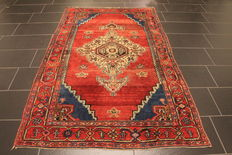 Old high quality hand-knotted Persion carpet - Hamadan Bidjar Malayer - made in Iran around 1930 - plant dyes - 135 x 220 cm