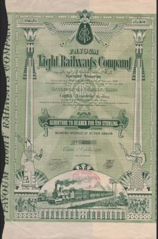 Egypte - Fayoum Light Railways - Cairo 1899 - Debenture £ 20 - TOPDEKO
