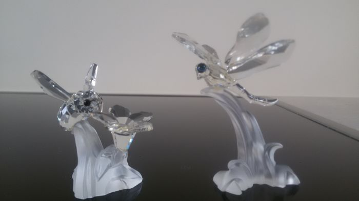 Swarovski - Bumble Bee and Dragonfly from the series 'Flower and Leaf'.