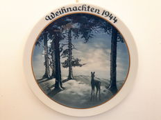 Rosenthal - Christmas plate 1944, Reh im Wald - Willi Hein