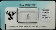 0.25 ct Natural Fancy Light Purplish Pink Diamond – NO RESERVE