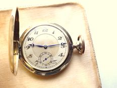 swiss gents large heavy pocket watch circa 1900s