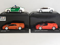 Minichamps - Scale 1/43 - Lot with 4 Italian models: 1 x Alfa Romeo & 3 x Lamborghini