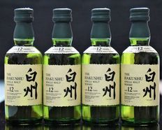 4 Bottles of Hakushu 12 Year Old