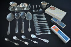 Gero Silver-plated 90,  27 items, period from 1925 to1952 + sugar tongs (Bremer Silverware)