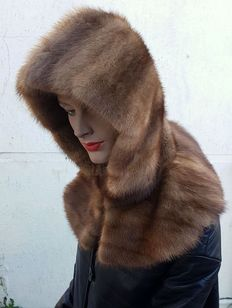 Mink fur hood / hat - MADE IN ITALY