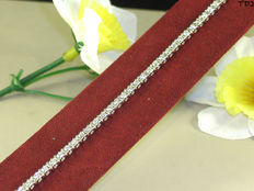 Diamond tennis bracelet - in total 2.24 ct. F/VS1 - Length: 18.7 cm