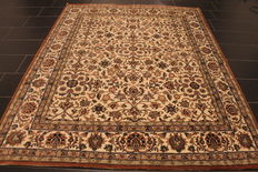 Magnificent hand-knotted oriental carpet - Indo Nain - 200 x 350 cm - made in India at the end of the 20th century