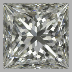 1.00 ct Princess Cut  Brilliant Diamond I VS2 -Original Image-10X - Serial#374